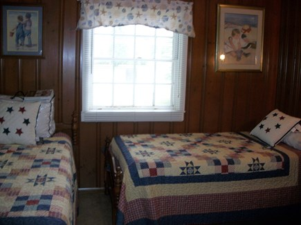 Dennis Cape Cod vacation rental - Neat, clean twin bedroom with newer matteresses
