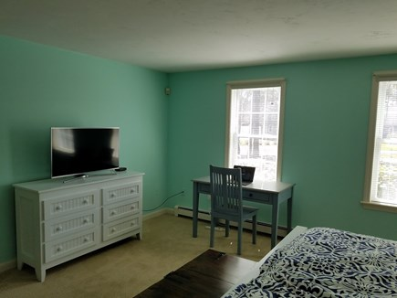 Dennis Village, North of 6A Cape Cod vacation rental - Desk/TV in master bedroom