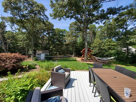 Dennis Village, North of 6A Cape Cod vacation rental - Plenty of privacy and room to spread out and have fun in backyard