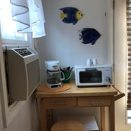 South Yarmouth Cape Cod vacation rental - Coffee maker, microwave, toaster oven and A/C