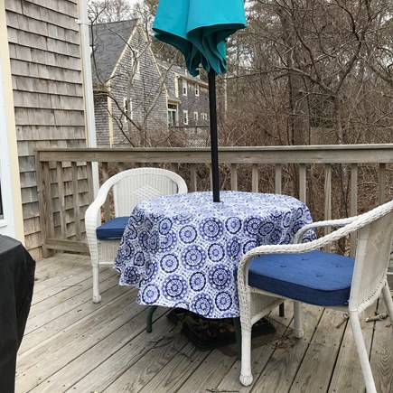 South Yarmouth Cape Cod vacation rental - Private deck with gas grill