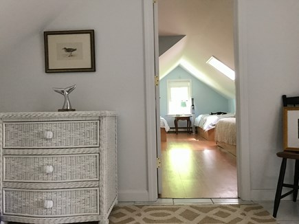 West Dennis Cape Cod vacation rental - Twin bedroom upstairs with skylight
