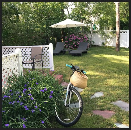 West Dennis Cape Cod vacation rental - private, shady backyard