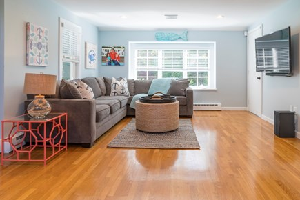 Chatham Cape Cod vacation rental - Den with Sectional Couch, Pull Out Sofa & TV