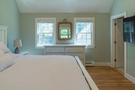 Chatham Cape Cod vacation rental - Master bedroom with queen bed, TV & Full bath