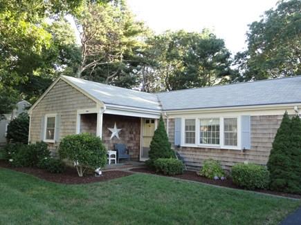 South Yarmouth Cape Cod vacation rental - Front porch, great spot for morning coffee and reading newspaper