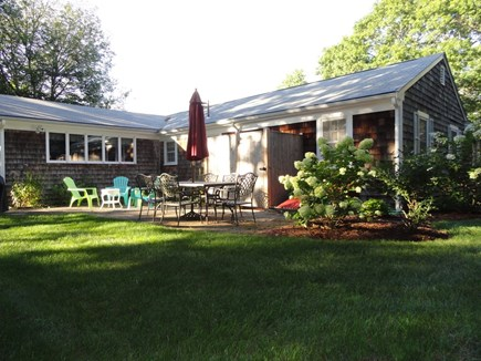 South Yarmouth Cape Cod vacation rental - Back yard and outdoor shower