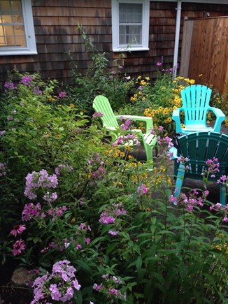 South Yarmouth Cape Cod vacation rental - Flowers by patio