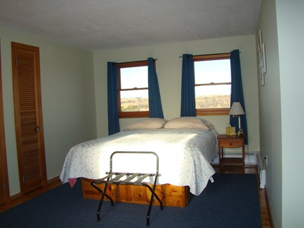 North Truro Cape Cod vacation rental - queen bedroom on 2nd floor, shares full bath with shower / tub