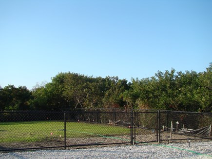 North Truro Cape Cod vacation rental - Large fenced in yard for family gatherings.