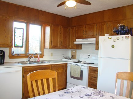 North Truro Cape Cod vacation rental - Kitchen: Major Appliances' dishwasher and table that seats 6