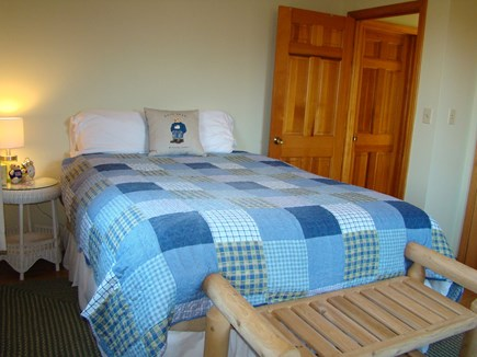 North Truro Cape Cod vacation rental - queen bedroom on the first floor shares a full bath with shower