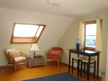 North Truro Cape Cod vacation rental - Sitting area in king bedroom