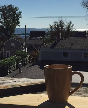 Provincetown Cape Cod vacation rental - Morning coffee on deck 3