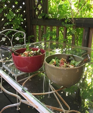 Provincetown Cape Cod vacation rental - Summer salad on deck 2