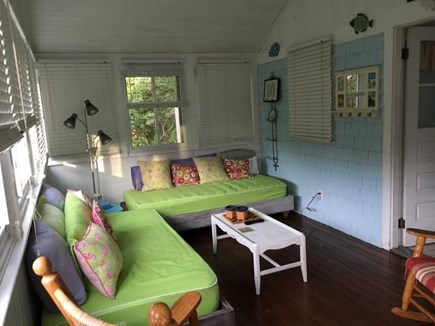 Dennis Cape Cod vacation rental - Light bright porch with day beds