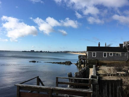 Provincetown Cape Cod vacation rental - View from backyard / steps down to beach