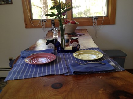 Wellfleet Cape Cod vacation rental - Have a meal at the kitchen breakfast bar.