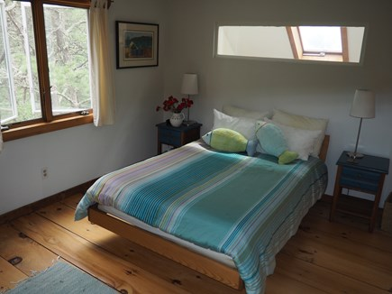 Wellfleet Cape Cod vacation rental - Main bedroom sun filled bedroom large closet and temperedic bed