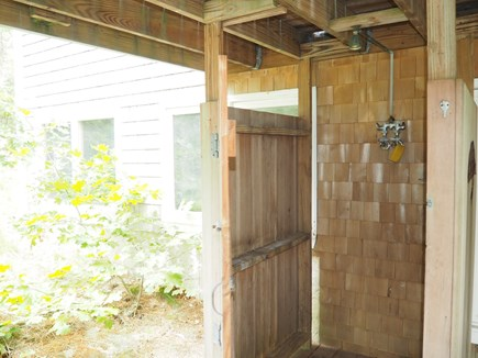 Wellfleet Cape Cod vacation rental - Enjoy a wonderful outdoor shower gazing into the woods.