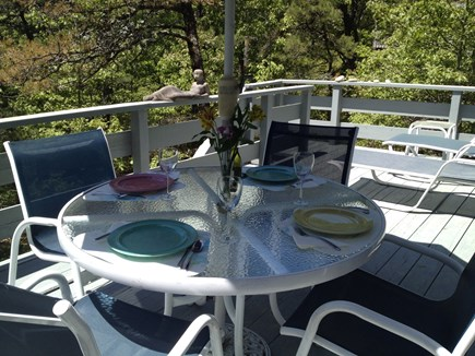Wellfleet Cape Cod vacation rental - Enjoy a meal on the deck or just lounge.