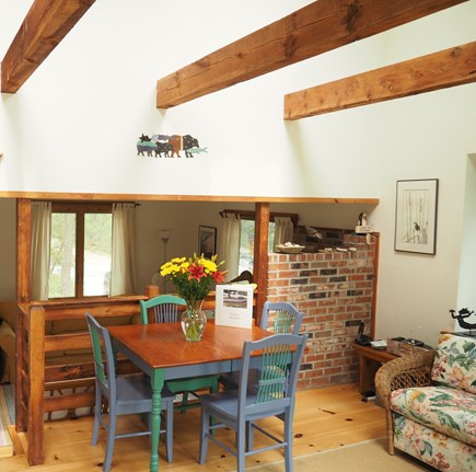 Wellfleet Cape Cod vacation rental - Sunroom/dining area with extension table for 6.