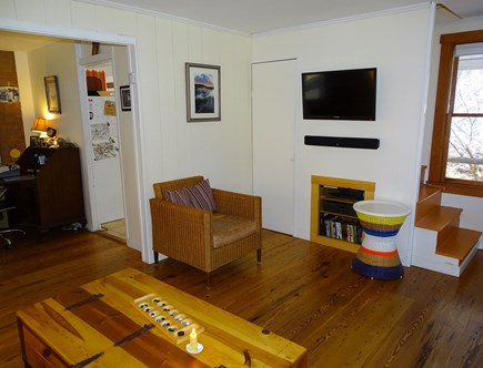 Wellfleet Cape Cod vacation rental - Living area with TV, games, DVDs