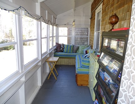 Wellfleet Cape Cod vacation rental - One of our favorite places to relax, on the porch with games