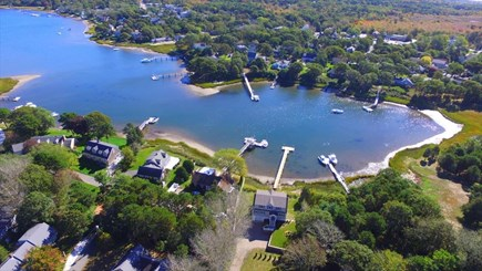 West Dennis Cape Cod vacation rental - Overhead view of the Grand Cove Section of Bass River