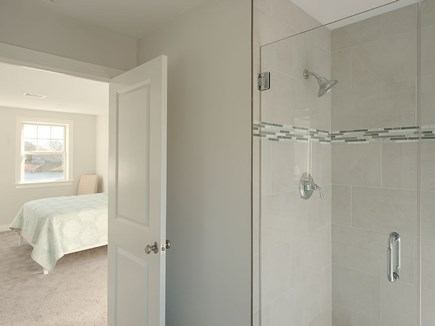 West Dennis Cape Cod vacation rental - Upstairs Master bath and walk in shower and double vanity
