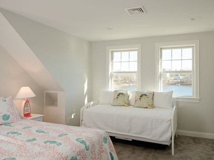 West Dennis Cape Cod vacation rental - Bedroom 3 with Queen Bed and Trundle (2 twins) and views.