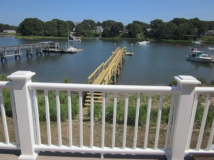 West Dennis Cape Cod vacation rental - Looking out from house at new pier/dock and grand cove