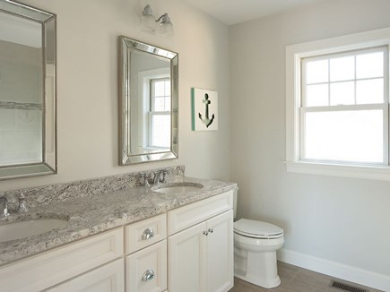 West Dennis Cape Cod vacation rental - Luxurious Private Master Bath w/ double sinks and walk on shower.