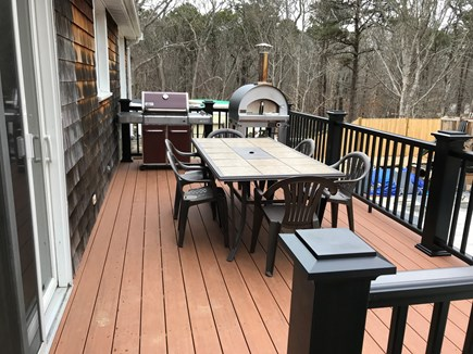 Eastham Cape Cod vacation rental - New back deck with Webber Grill and new pizza oven.