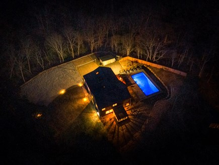 Eastham Cape Cod vacation rental - Aerial night shot