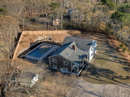 Eastham Cape Cod vacation rental - Aerial shot of the property