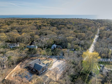 Eastham Cape Cod vacation rental - Aerial shot showing the road to Cooks Brook Beach!