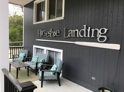 Eastham Cape Cod vacation rental - Front sitting area overlooking the yard to watch the kids playing
