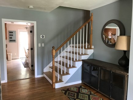 Eastham Cape Cod vacation rental - Entry area on the main level. The stairs go to the upper level