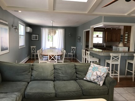 Eastham Cape Cod vacation rental - Looking at the main dining room from the living room
