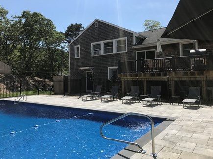 Eastham Cape Cod vacation rental - Pool patio and new deck