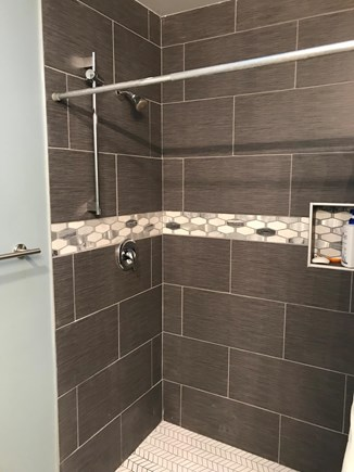 Eastham Cape Cod vacation rental - Custom tiled shower.