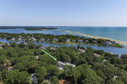 Mashpee, Popponesset Cape Cod vacation rental - View of house and proximity to Popponesset Beach