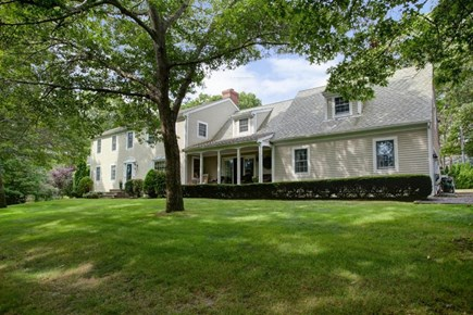 Mashpee, Popponesset Cape Cod vacation rental - Front of house, sits on a large corner lot