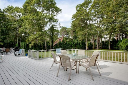 Mashpee, Popponesset Cape Cod vacation rental - Large deck, overlooking spacious yard