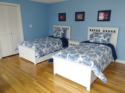 Mashpee, Popponesset Cape Cod vacation rental - Upstairs twin bedroom with private deck