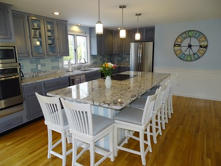 Mashpee, Popponesset Cape Cod vacation rental - More seating in kitchen, stainless-steel appliances