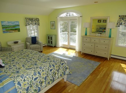 Mashpee, Popponesset Cape Cod vacation rental - Master bedroom facing deck