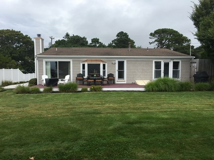 West Yarmouth Cape Cod vacation rental - 48 Ft Deck with Views of Lewis Bay