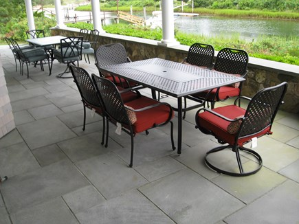 West Yarmouth Cape Cod vacation rental - Patio tables (grill & sitting area with coffee table not shown)